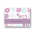 Cute as a Button -- Purple Thank You Card