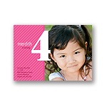 Big Numbers -- Girl Birthday Invitation