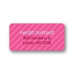 Simple Stripes -- Girl Address Label
