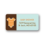 All Things Baby -- Blue Address Label