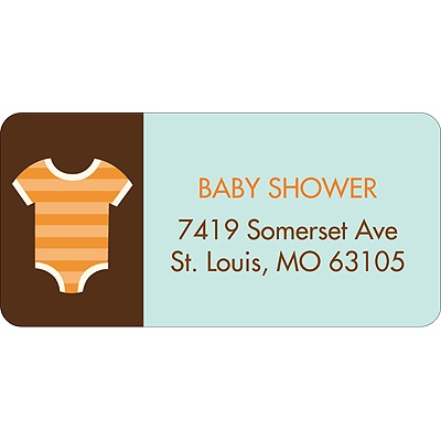 All Things Baby In Blue Baby Address Labels