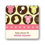 All Things Baby in Pink -- Baby Shower Favor Stickers