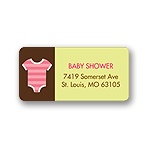 All Things Baby -- Pink Address Label