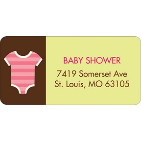 All Things Baby In Pink -- Baby Address Labels