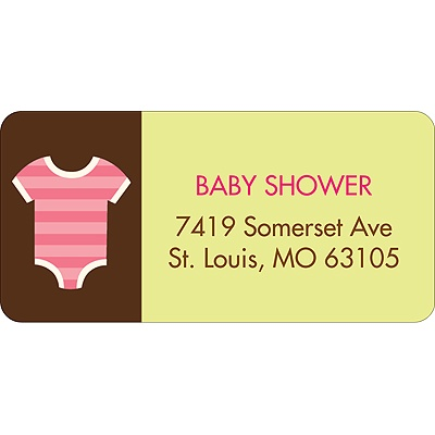 All Things Baby In Pink Baby Address Labels
