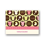 All Things Baby -- Pink Thank You Card