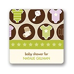 All Things Baby in Purple -- Baby Shower Favor Stickers