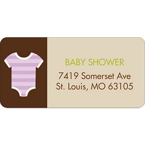 All Things Baby In Purple -- Baby Address Labels