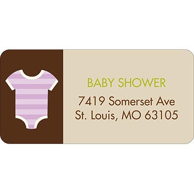 All Things Baby -- Purple Address Label