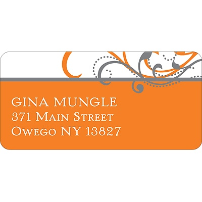 Flourish Graduation Address Labels