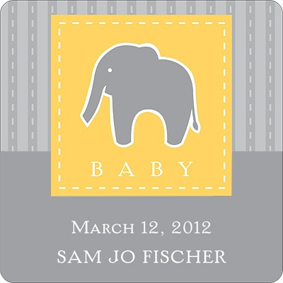 Stamp of Approval -- Baby Shower Favor Stickers