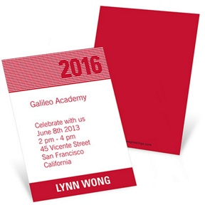 Bright Lights -- Mini Graduation Announcements