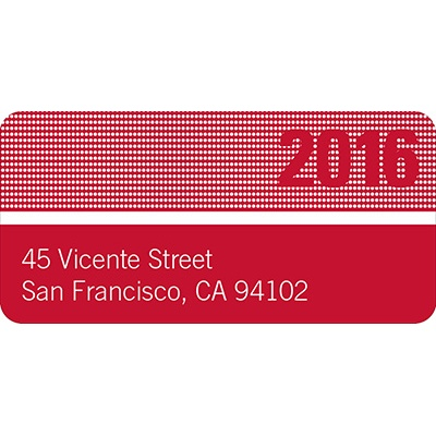 Bright Lights Graduation Address Labels