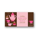 Tea Time -- Birthday Invitation