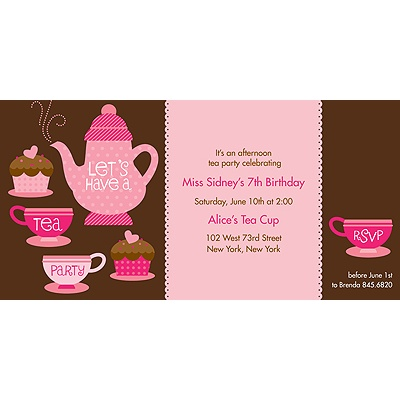 Tea Time Birthday Invitation