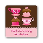Tea Time -- Kids Birthday Favor Stickers