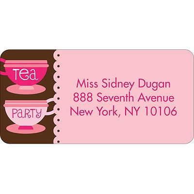 Tea Time -- Address Label