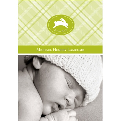 Plaid Perfection -- Personalized Note Cards