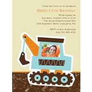 Big Dig Kid's Birthday Party Invitation