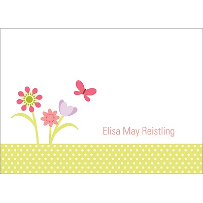 Spring Has Sprung -- Personalized Note Cards