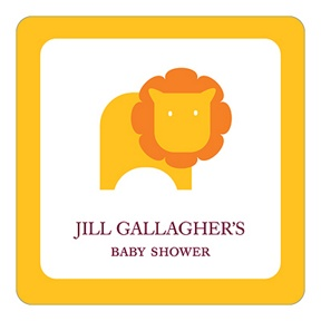 Little Lion -- Baby Shower Favor Stickers
