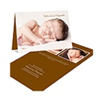 Fresh Folded Arrival -- Photo Birth Announcements