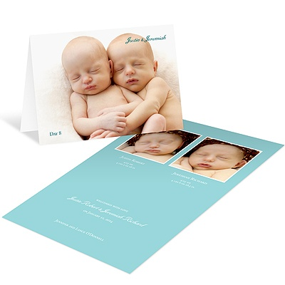 Fresh Folded Arrival -- Twin Birth Announcements