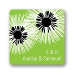 Flower Burst -- Wedding Favor Stickers