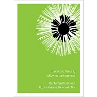 Flower Burst Wedding Reception Card