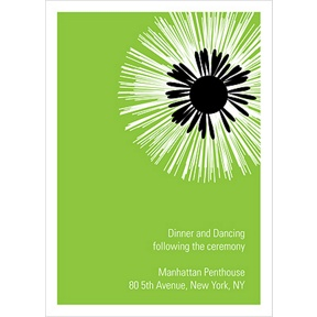 Flower Burst -- Wedding Reception Card