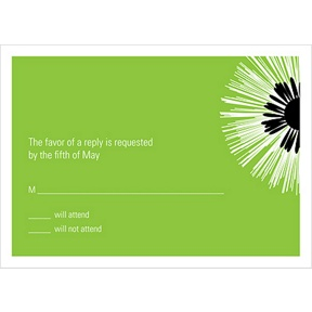 Flower Burst -- Wedding Response Card