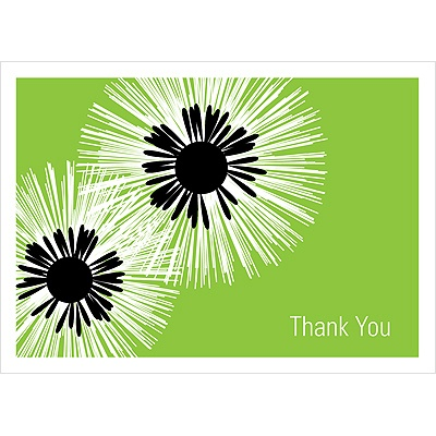 Flower Burst Wedding Thank You Card