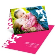Fluttering Silhouette Easter Photo Cards