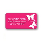 Fluttering Silhouette -- Address Labels