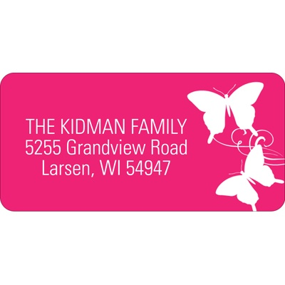 Fluttering Silhouette Address Labels