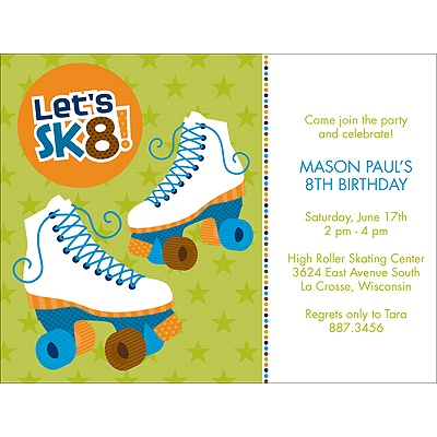Let's Roll! -- Blue Birthday Invitation