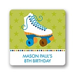 Let's Roll in Blue! -- Kids Birthday Favor Stickers