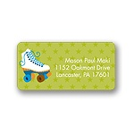 Let's Roll! -- Blue Address Label