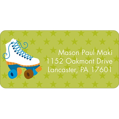 Let's Roll! Blue Address Label