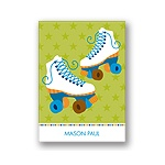 Let's Roll! -- Blue Thank You Card