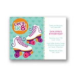 Let's Roll! -- Pink Birthday Invitation