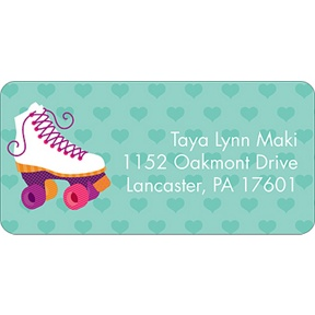 Let's Roll! -- Pink Address Label