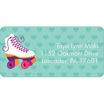 Let's Roll! Pink Address Label