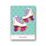 Let's Roll! -- Pink Thank You Card