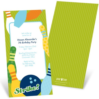 All Strikes For Boys Kids Birthday Invitations