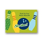 All Strikes -- Blue Thank You Card