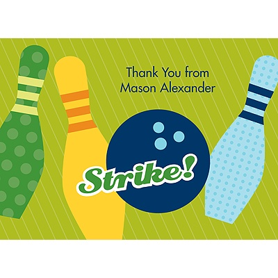All Strikes Blue Thank You Card