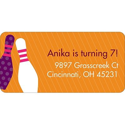 All Strikes Pink Address Label