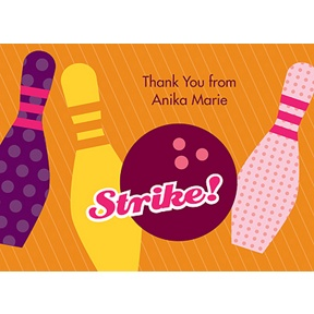 All Strikes -- Pink Thank You Card