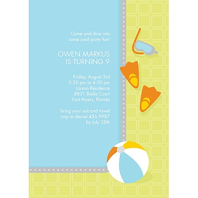 Wet 'n' Wild -- Kids Birthday Party Invitation